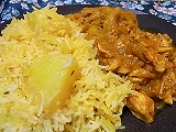 Chicken curry & Rice